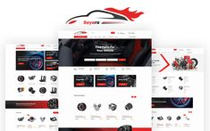 Sayara - Auto Parts Store Website Template Garage Repair, Auto Parts Store, Google Web Font, Grid System, Website Template, Motorhome, Templates, Stencils, Caravan Van