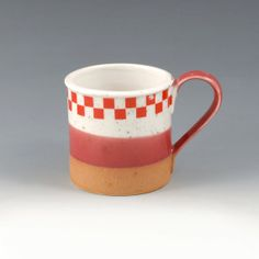 Hey, I found this really awesome Etsy listing at https://www.etsy.com/listing/173561791/tri-color-checkered-mug super cute coffee mug, coffee cup, etsy item, funny, beautiful, original, unique, fun idea