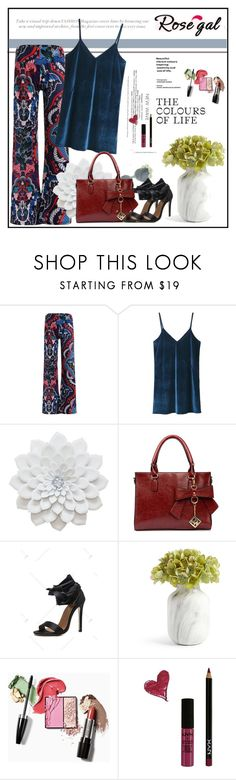 """""""Rosegal velvet top"""" by sabine-rose ❤ liked on Polyvore featuring NYX"""