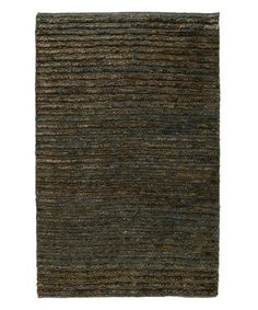 Loving this Ombry Blue & Brown Vincent Soumak Hand-Sheared Area Rug on #zulily! #zulilyfinds
