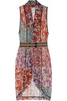 Crochet print dress