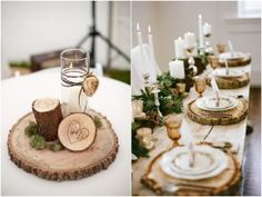 Decoração de Casamento Rústico - Toco de Madeira | blogdamariafernanda.com
