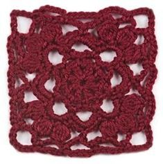 """January, part of Crochet's Afghan Block of the Month. Get the download here: http://www.crochetmagazine.com/crochet_block.php?id=11 """"Like"""" the Crochet Facebook page so you don't miss a single monthly installment: https://www.facebook.com/CrochetMagazine"""