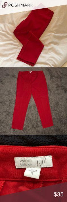 {j.jill} red ankle pants, size 12 {j.jill} red ankle pants, size 12. Excellent condition. J. Jill Pants Ankle & Cropped