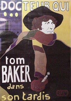 Docteur Qui Tom Baker dans son TARDIS