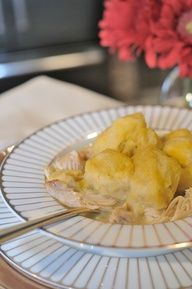 Chicken and Dumplings in the Slow Cooker - Easy recipe that's ready to eat when you get home! www.darcydiva.com