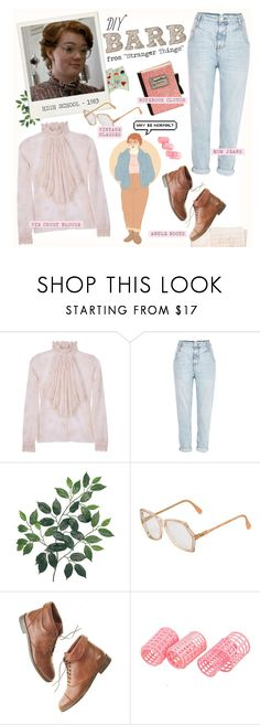 """DIY Halloween Costume: Barb from ""Stranger Things"""" by aj93 ❤ liked on Polyvore featuring Hahn, Paul & Joe, River Island, Cazal, Madewell, Olympia Le-Tan, halloweencostume and DIYHalloween"