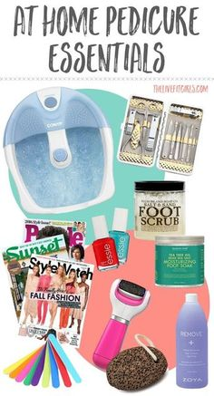 Need a little pampering? These at home pedicure essentials are the perfect place to start! #ad