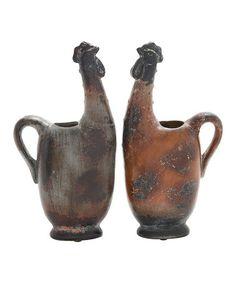 Love this Ceramic Rooster Vase Set on #zulily! #zulilyfinds