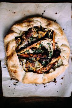 Winter Vegetable & Gorgonzola Galette | Happyolks