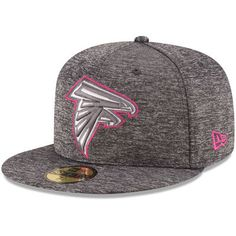 eae27c382 Men s New Era Heather Gray Atlanta Falcons 2016 Breast Cancer Awareness  Sideline 59FIFTY Fitted Hat