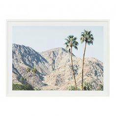 This nostalgic framed photographic print features the iconic hills that surround the Palm Springs region in California. Framed Artwork, Wall Art Prints, Framed Prints, Picture Hangers, Beach Print, Palm Springs, Green And Grey, Wall Art Decor, Digital Prints