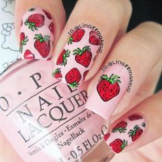 Fruits Party Stamping Plate mani by Item ID Strawberry, orange, pear or lemon? Let's eat them all. 3d Nails, Love Nails, Pretty Nails, Boxing Day, Nail Art Inspiration, Strawberry Nail Art, Lemon Nails, Stamping Nail Art, Halloween Nails