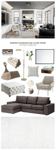 Copy Cat Chic Room Redo | Modern Scandinavian Living Room