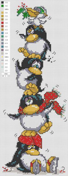 tučňáci nad sebou