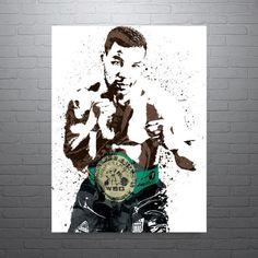 Mike Tyson Sports Art Print Boxing Poster Kids Decor