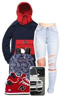 """""""3:31:15"""" by codeineweeknds ❤ liked on Polyvore featuring JanSport and New Balance"""