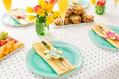 Elevate Your Easter Table With Last Minute Paper Flower Napkin Rings via Brit   Co