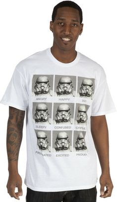 More for Star Wars Day (May the 4th)  Emotions Storm Trooper Shirt – 80sTees.com, Inc.