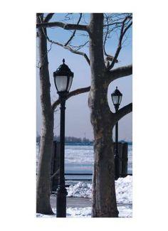 Winterpark Motivdruck 190x90 cm (L/B)