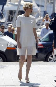 Princess Charlene of Monaco arrives for the inauguration of the new Yacht Club of Monaco, 20.06.2014 in Monaco.