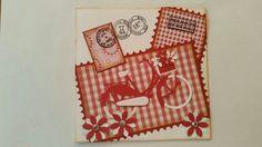 Gemaakt door Hella Coolen : Postzegels met fiets