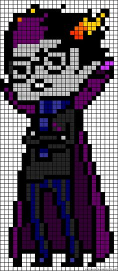 Homestuck Eridan Ampora perler bead pattern. Yup. I am pinning every single on of these I see.