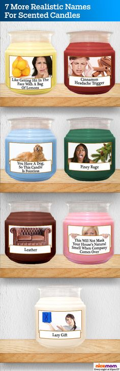 7 more realistic names for scented candles.