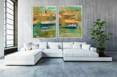 TWO Paintings TWO painting prints, not just ONE - This is a Diptych (2 paintings) abstract mixed media pieces. They are Digital Download/Instant Downloads. Take the files to your local printer and print it on canvas or paper and frame it. Perfect for your living room, bedroom, office, study or Art Series, Modern Art Prints, Affordable Art, Painting Prints, Paintings, Abstract Wall Art, Home Art, New Art, Family Room