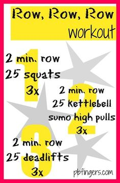Row, Row, Row Workout with Kettlebell Rower Workout, Gym Workouts, At Home Workouts, Workout Tanks, Workout Gear, Kettlebell Training, Workout Kettlebell, Kettlebell Benefits, Cardio Hiit