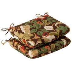 Shop for Set of 2 Outdoor Patio Furniture Chair Seat Cushions - Floral Cafe - Red. Get free delivery On EVERYTHING* Overstock - Your Online Garden & Patio Shop! Tropical Seat Cushions, Round Seat Cushions, Floral Cushions, Outdoor Lounge Chair Cushions, Patio Cushions, Patio Chairs, Dining Chairs, Room Chairs, Buy Pillows