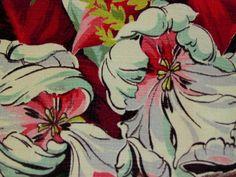 1940's design, Caracas vintage barkcloth drapery panel.
