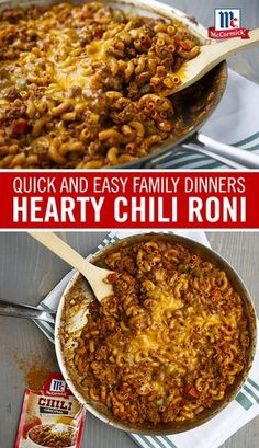 Start with flavor: Chili seasoning mix brings warm, full flavor to this easy one-pan dinner recipe. Cook macaroni with ground beef and seasoning mix for a family-approved 30-minute meal.
