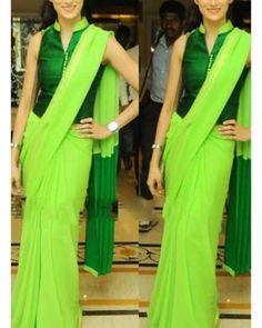 Shilpa Reddy -Indian Fashion Designer and Model Blouse Designs High Neck, Sari Blouse Designs, Fancy Blouse Designs, Saree Blouse Patterns, Indian Fashion Designers, Indian Designer Wear, Look Short, Stylish Sarees, Elegant Saree