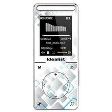 Original professional HiFi lossless player, apoio MP4 WMA WAV APE FLAC/MP4 player, 8 GB 1.8 ''tela de armazenamento de metal cheia