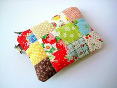 Patchwork pouch - front