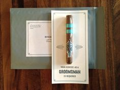 SUPER cute way to ask the groomsmen