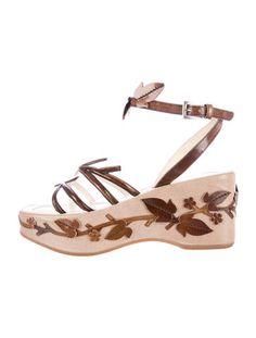 Prada Floral Platform Sandals, Spring 1997