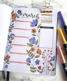 20 Bullet Journal Weekly Spread Ideas You'll Want To Try. If you need bullet journal inspiration, here are the best bullet journal weekly spreads you Bullet Journal Inspo, Minimalist Bullet Journal, March Bullet Journal, Bullet Journal Notebook, Bullet Journal Aesthetic, Bullet Journal Spread, Monthly Bullet Journal Layout, Bullet Journal Daily Log Ideas, Bullet Journal Calendar Ideas