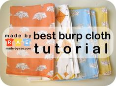 The Best Burp Cloths #diy #sewing #upcycle