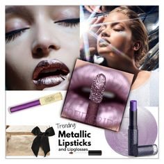 """Metallic Lipstick"" by frenchfriesblackmg ❤ liked on Polyvore featuring beauty, Deborah Lippmann, Clare V., Sanders, Lipstick Queen and Forever 21"