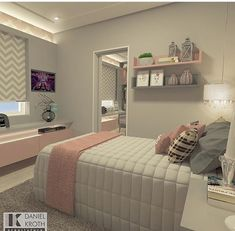 Best Roma design ever! I would love thins in my bedroom Heim, Teen Girl Bedrooms, Teen Bedroom, Bedroom Inspo, Home Decor Bedroom, Bedroom Bed, Bedroom Ideas, Thalia, Bedroom Images