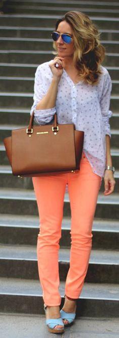 Scotch & Soda Neon Orange Women's Skinny Jeans by Mes Voyages à Paris