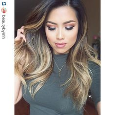 """#Repost @beautybymh with @repostapp. ・・・ Thanks for all the sweet comments on my last post! My sister @mystylist_my does my hair…"