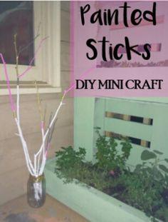 Painted Sticks Mini Craft.