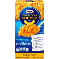 Wholesale supply of Kraft Mac & Cheese Dinner, Order bulk online by case, pallet or truckload quantity. Check out our entire assortment of Kraft Prepared Foods under a dollar Tasty Mac And Cheese, Making Mac And Cheese, Kraft Mac N Cheese, Macaroni Cheese, Mac Cheese, Dinner Box, Egg Packaging, Gourmet Recipes, Nutella