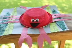 """Cute crab craft - great to pair with the book """"House for Hermit Crab"""" or others"""