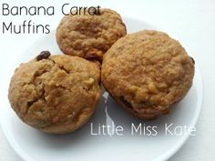 Healthy Muffin Recipe - Apple Banana Carrot Muffins - Little Miss Kate