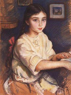Zinaida Serebriakova (1884-1967) Portrait of O.I. Rybakova in childhood, 1923
