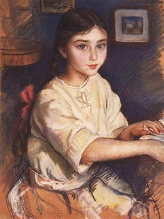 Zinaida Serebriakova (1884-1967) Portrait of O.I. Rybakova in childhood, 1923